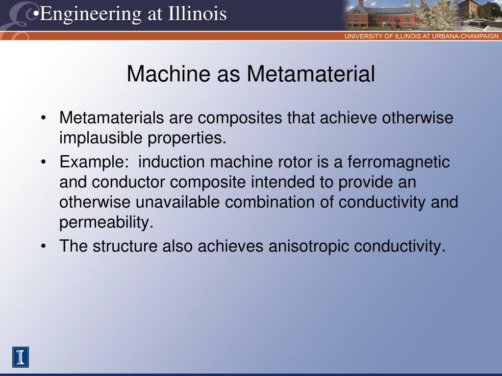 Machine as Metamaterial