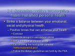 2 4 determine positive and negative habits that affect personal health