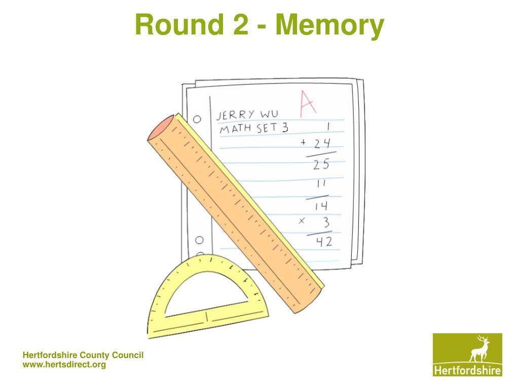 Round 2 - Memory