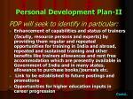 personal development plan ii