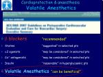 cardioprotection anaesthesia volatile anesthetics