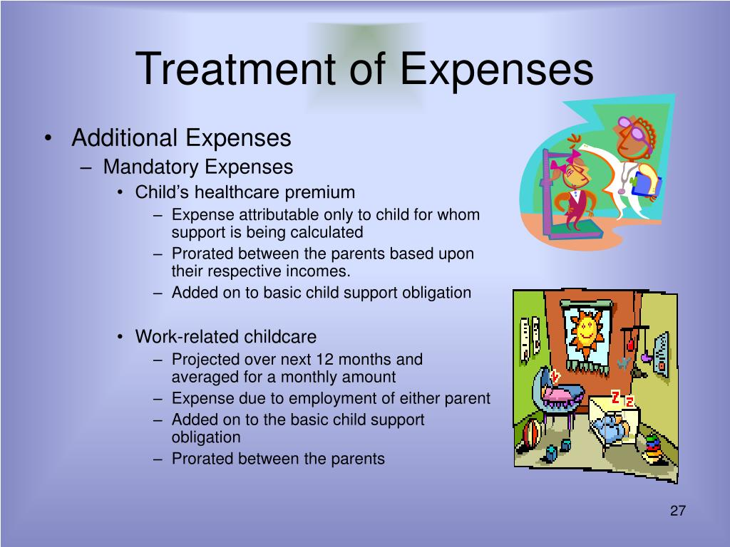 Treatment of Expenses