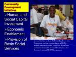 community development initiatives