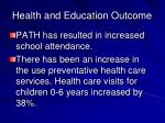 health and education outcome