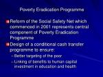 poverty eradication programme