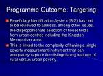 programme outcome targeting1