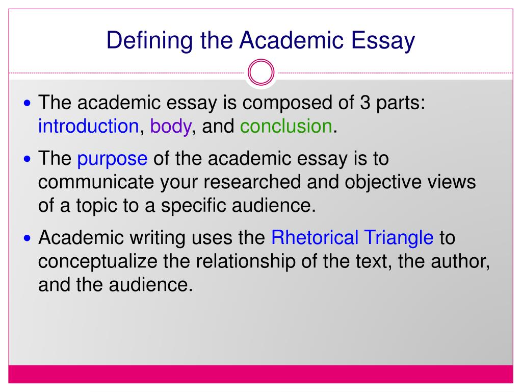 Defining the Academic Essay