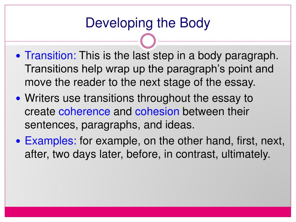 Developing the Body