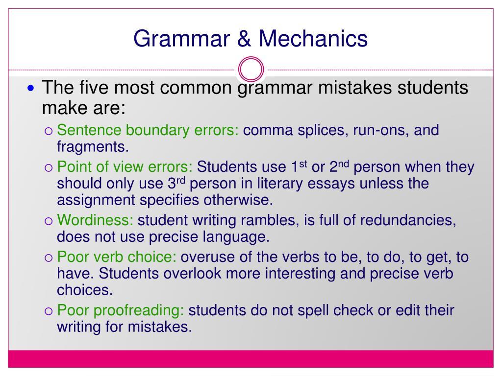 Grammar & Mechanics