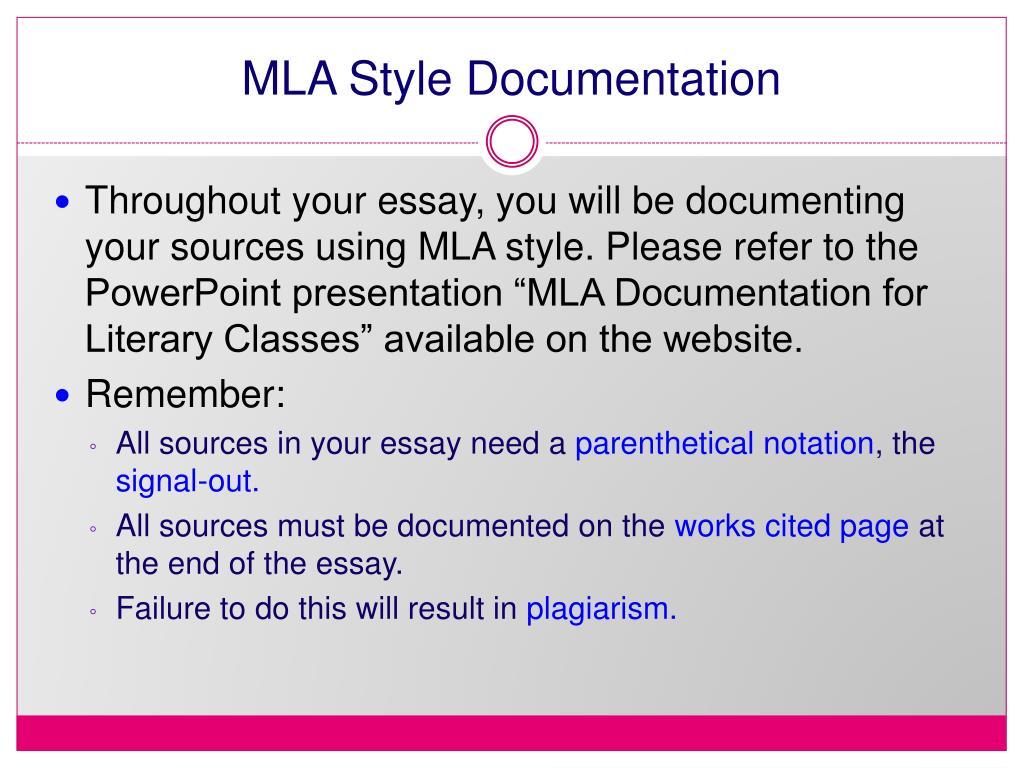 MLA Style Documentation