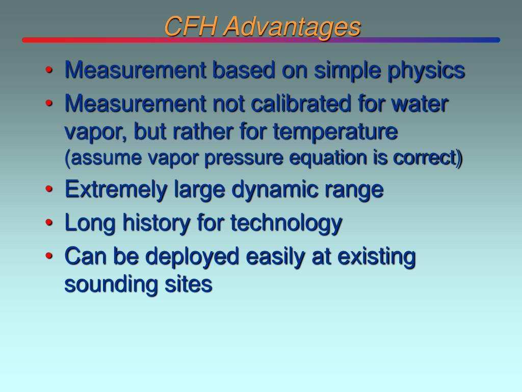 CFH Advantages