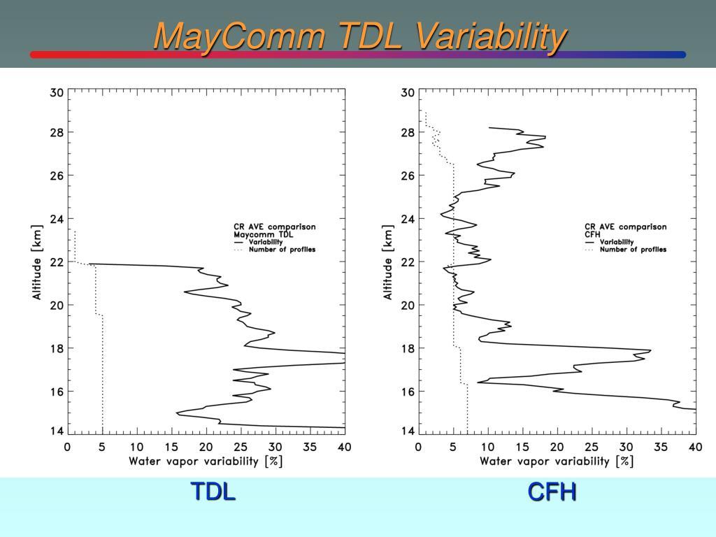 MayComm TDL Variability