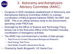 3 astronomy and astrophysics advisory committee aaac