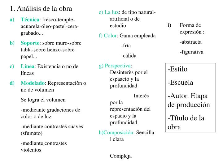 1. Análisis de la obra