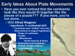 early ideas about plate movements