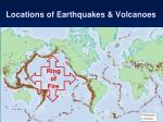 locations of earthquakes volcanoes7