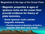 magnetism the age of the ocean floor