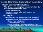 ocean continent subduction boundary