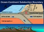 ocean continent subduction boundary25