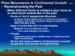 plate movements continental growth sec 4