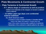 plate movements continental growth39
