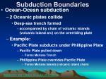 subduction boundaries22