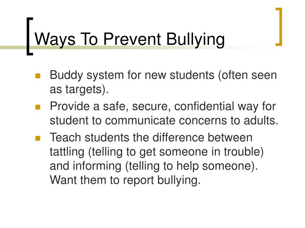 Ways To Prevent Bullying