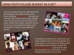 using photo collage blanket as a gift