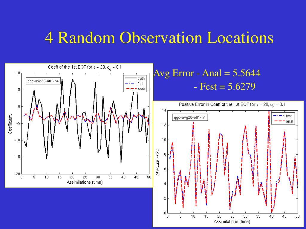 4 Random Observation Locations