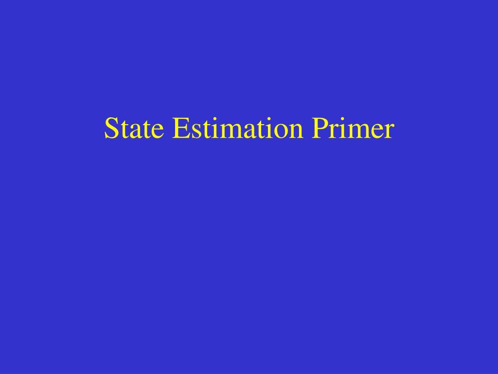 State Estimation Primer
