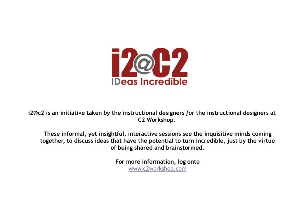 i2@c2 is an initiative taken