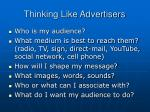 thinking like advertisers