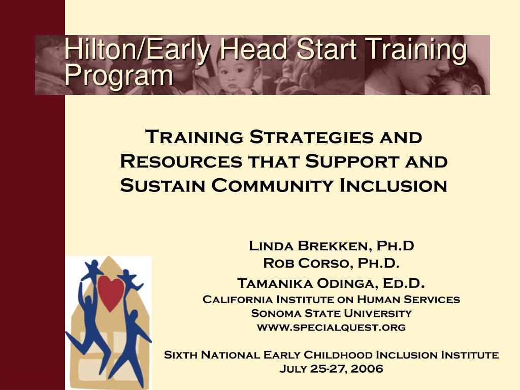 hilton early head start training program l.
