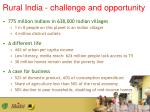 rural india challenge and opportunity