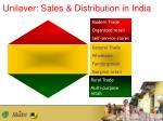 unilever sales distribution in india