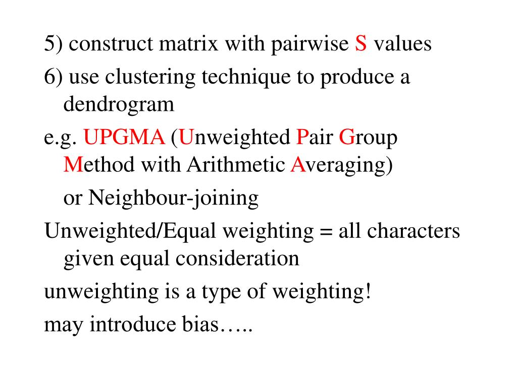 5) construct matrix with pairwise