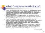 what constitute health status