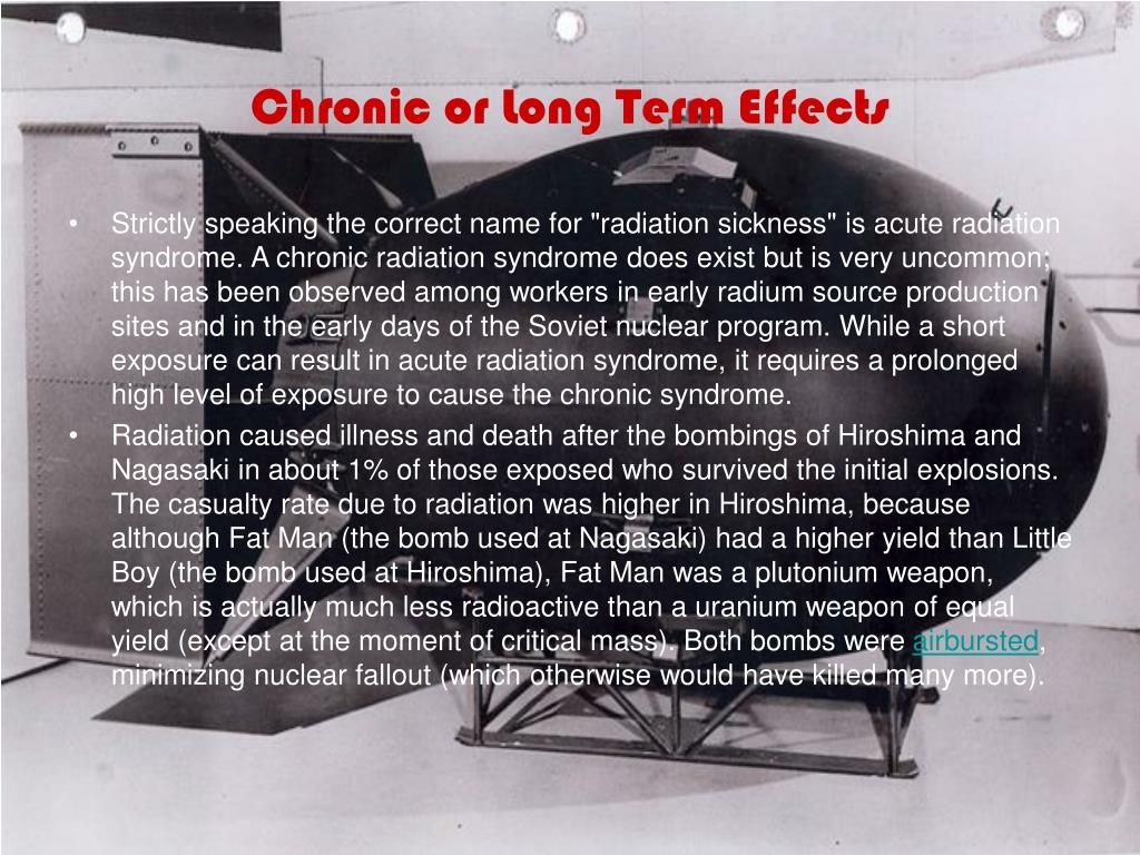 Chronic or Long Term Effects