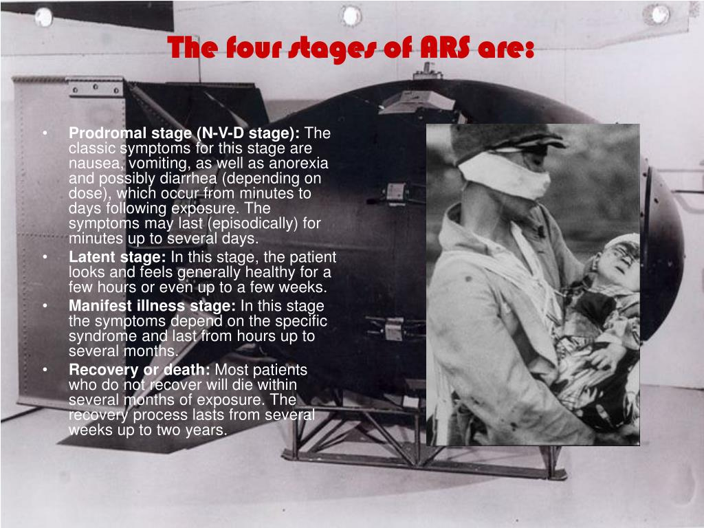 The four stages of ARS are: