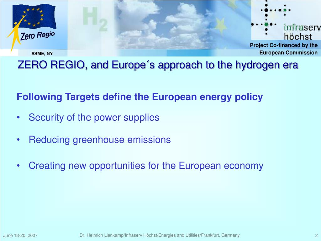 Following Targets define the European energy policy