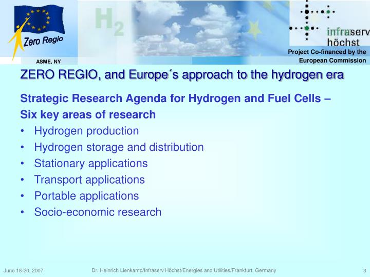 Strategic Research Agenda for Hydrogen and Fuel Cells –