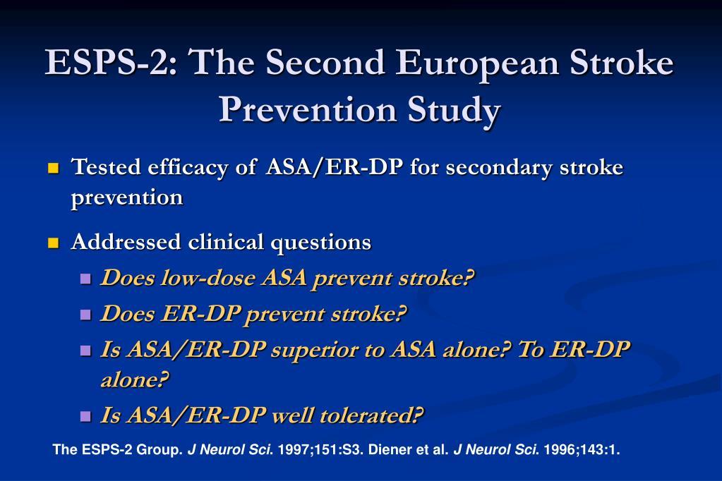 ESPS-2: The Second European Stroke Prevention Study