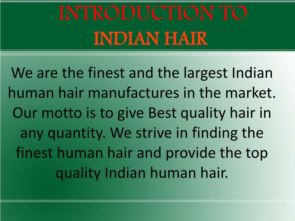 introduction to indian hair l.