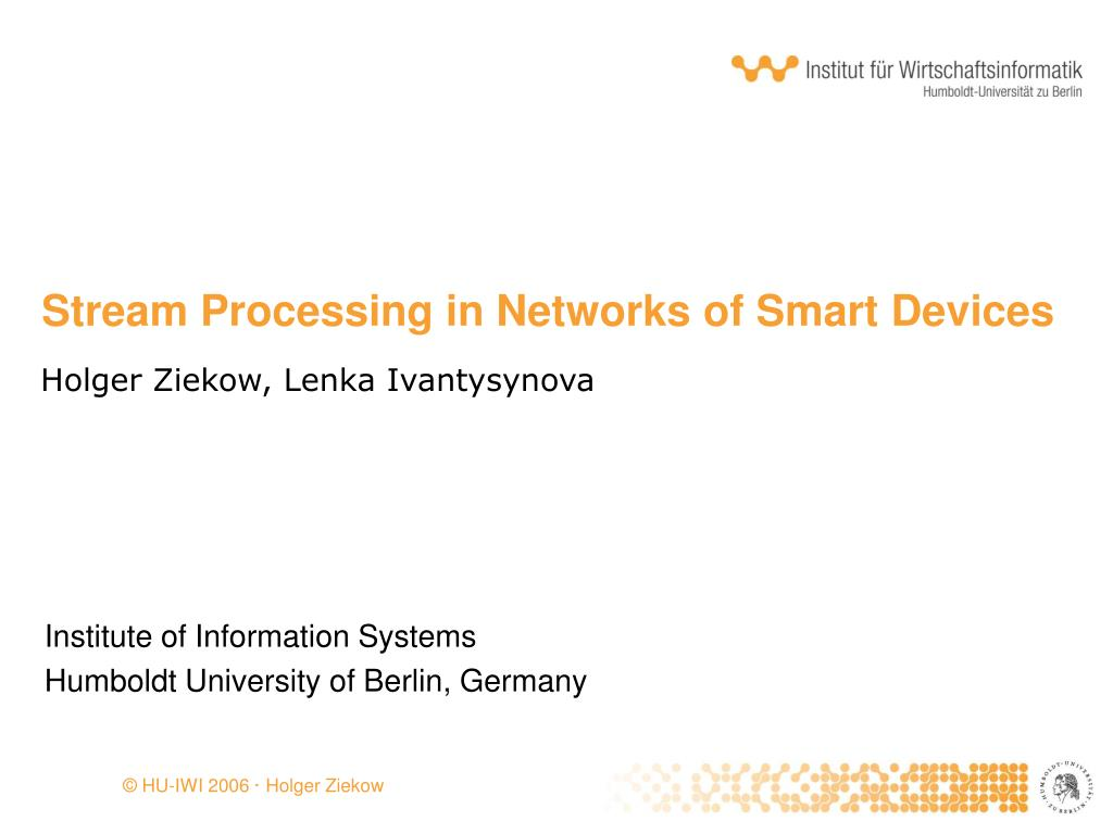 stream processing in networks of smart devices l.