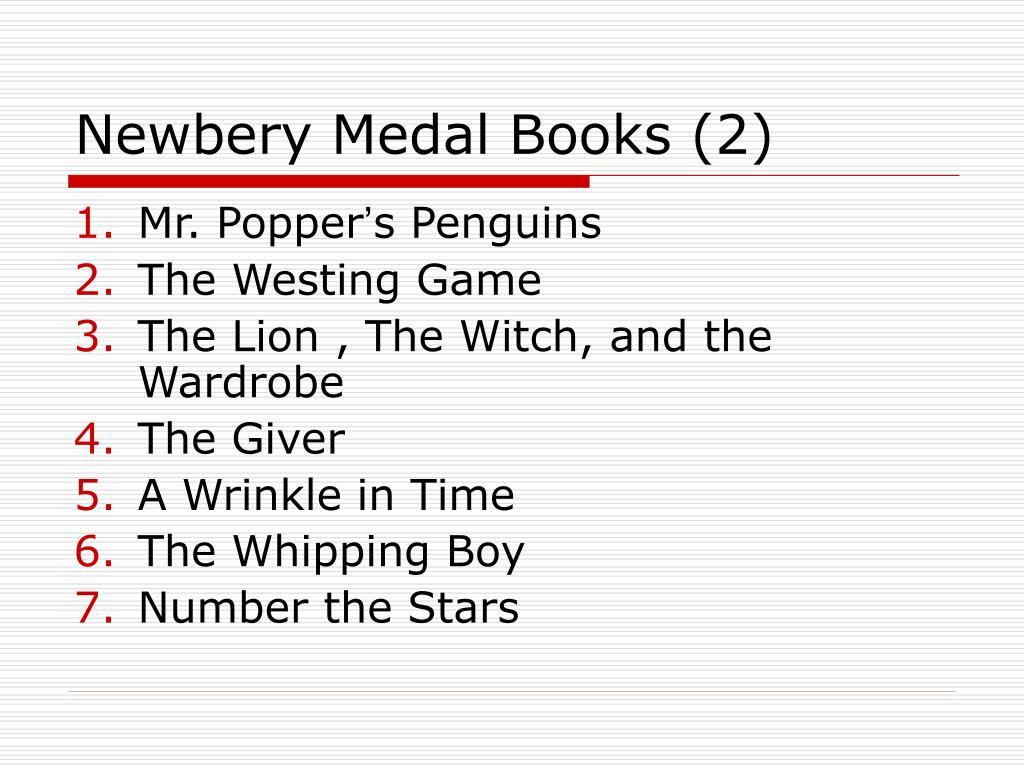 Newbery Medal Books (2)