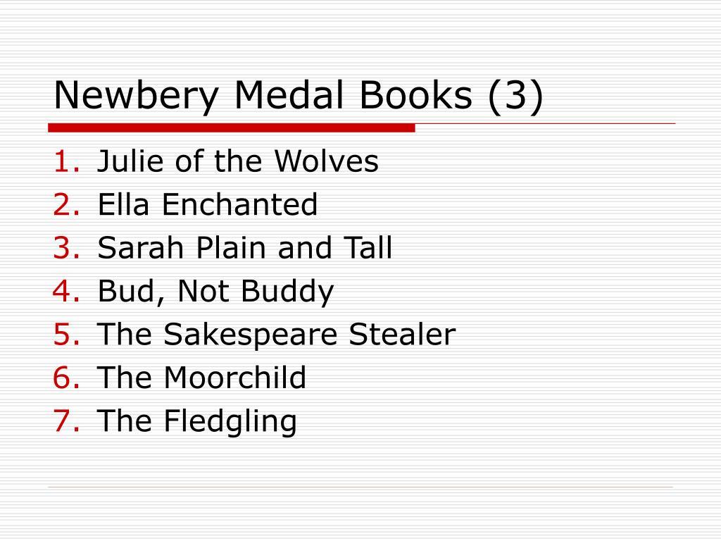 Newbery Medal Books (3)