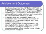 achievement outcomes