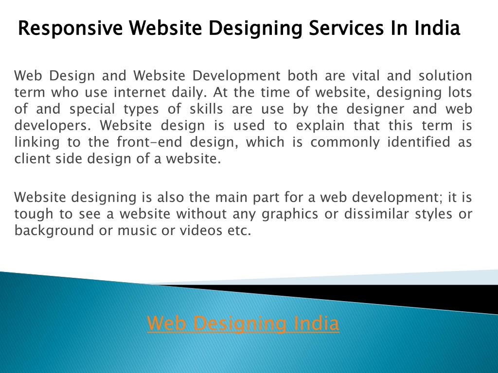 responsive website designing services in india l.