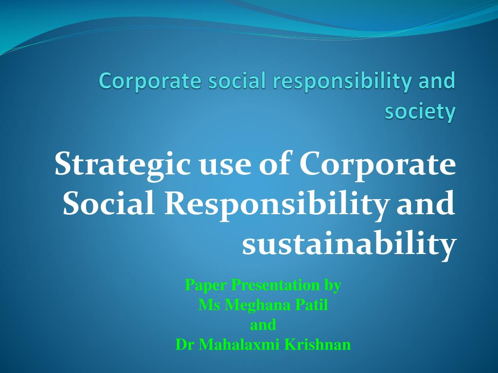 corporate social responsibility and society l.