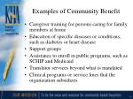 examples of community benefit